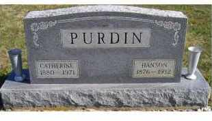PURDIN, CATHERINE - Adams County, Ohio | CATHERINE PURDIN - Ohio Gravestone Photos