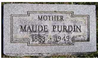 PURDIN, MAUDE - Adams County, Ohio | MAUDE PURDIN - Ohio Gravestone Photos