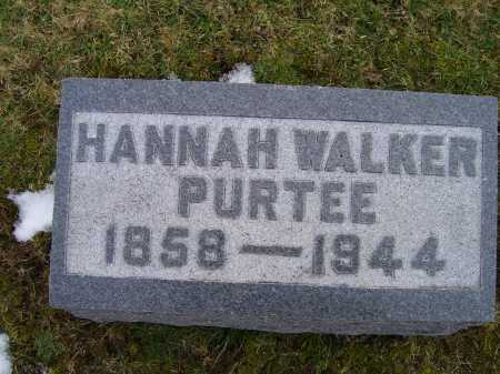 WALKER PURTEE, HANNAH - Adams County, Ohio   HANNAH WALKER PURTEE - Ohio Gravestone Photos