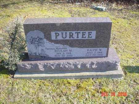 PURTEE, BEULAH M. - Adams County, Ohio | BEULAH M. PURTEE - Ohio Gravestone Photos