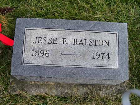 RALSTON, JESSE E. - Adams County, Ohio   JESSE E. RALSTON - Ohio Gravestone Photos