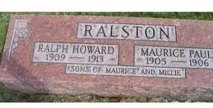 RALSTON, MAURICE PAUL - Adams County, Ohio | MAURICE PAUL RALSTON - Ohio Gravestone Photos