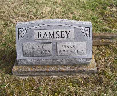RAMSEY, FANNIE - Adams County, Ohio | FANNIE RAMSEY - Ohio Gravestone Photos