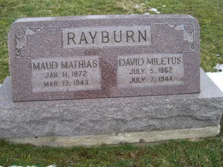 RAYBURN, MAUD MATHIAS - Adams County, Ohio | MAUD MATHIAS RAYBURN - Ohio Gravestone Photos
