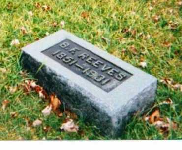 REEVES, BENJAMIN FRANKLIN - Adams County, Ohio | BENJAMIN FRANKLIN REEVES - Ohio Gravestone Photos