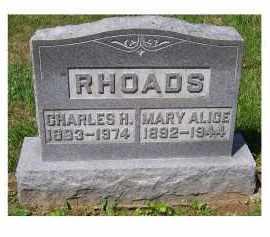 RHOADS, MARY ALICE - Adams County, Ohio | MARY ALICE RHOADS - Ohio Gravestone Photos