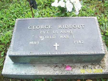 RIDEOUT, GEORGE - Adams County, Ohio   GEORGE RIDEOUT - Ohio Gravestone Photos