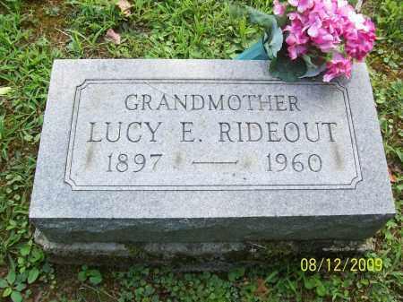 RIDEOUT, LUCY E - Adams County, Ohio   LUCY E RIDEOUT - Ohio Gravestone Photos