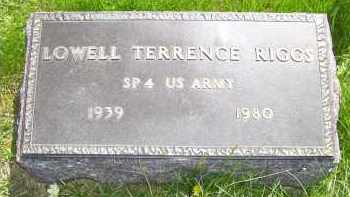 RIGGS, LOWELL TERRENCE - Adams County, Ohio | LOWELL TERRENCE RIGGS - Ohio Gravestone Photos