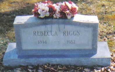 RIGGS, REBECCA - Adams County, Ohio | REBECCA RIGGS - Ohio Gravestone Photos