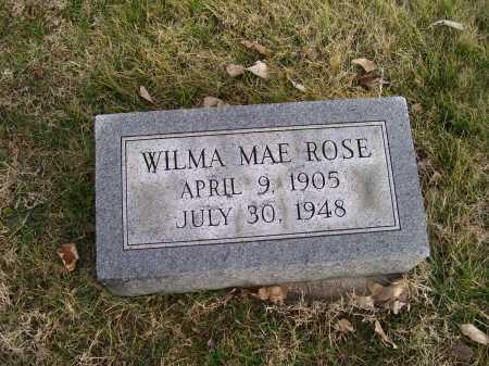 ROSE, WILMA MAE - Adams County, Ohio | WILMA MAE ROSE - Ohio Gravestone Photos