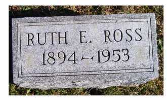 ROSS, RUTH E. - Adams County, Ohio | RUTH E. ROSS - Ohio Gravestone Photos
