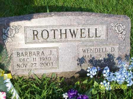 ROTHWELL, BARBARA J - Adams County, Ohio | BARBARA J ROTHWELL - Ohio Gravestone Photos