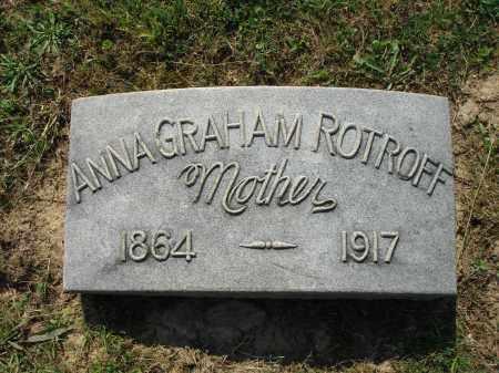ROTROFF, ANNA GRAHAM - Adams County, Ohio | ANNA GRAHAM ROTROFF - Ohio Gravestone Photos