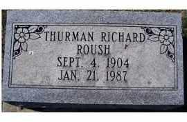 ROUSH, THURMAN RICHARD - Adams County, Ohio   THURMAN RICHARD ROUSH - Ohio Gravestone Photos