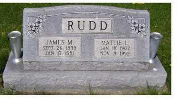 RUDD, MATTIE L. - Adams County, Ohio | MATTIE L. RUDD - Ohio Gravestone Photos