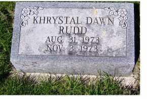 RUDD, KHRYSTAL DAWN - Adams County, Ohio | KHRYSTAL DAWN RUDD - Ohio Gravestone Photos