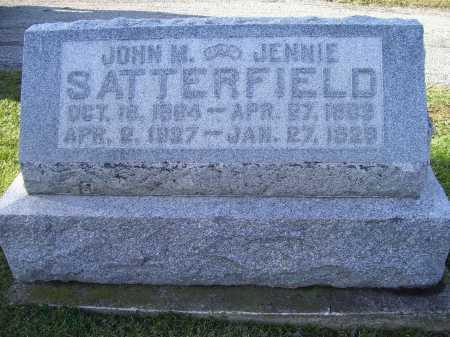 SATTERFIELD, JENNIE - Adams County, Ohio | JENNIE SATTERFIELD - Ohio Gravestone Photos