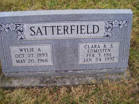 SATTERFIELD, CLARA B. S. - Adams County, Ohio | CLARA B. S. SATTERFIELD - Ohio Gravestone Photos