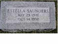 SAUNDERS, ESTELLA - Adams County, Ohio   ESTELLA SAUNDERS - Ohio Gravestone Photos