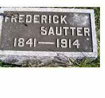 SAUTTER, FREDERICK - Adams County, Ohio   FREDERICK SAUTTER - Ohio Gravestone Photos