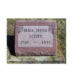 SCOTT, IRMA IRENE - Adams County, Ohio | IRMA IRENE SCOTT - Ohio Gravestone Photos