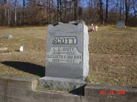 SCOTT, ELIZABETH - Adams County, Ohio | ELIZABETH SCOTT - Ohio Gravestone Photos