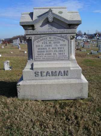 SEAMAN, MINNIE F. - Adams County, Ohio   MINNIE F. SEAMAN - Ohio Gravestone Photos
