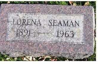 SEAMAN, LORENA - Adams County, Ohio   LORENA SEAMAN - Ohio Gravestone Photos