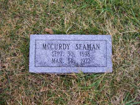 SEAMAN, MCCURDY - Adams County, Ohio | MCCURDY SEAMAN - Ohio Gravestone Photos