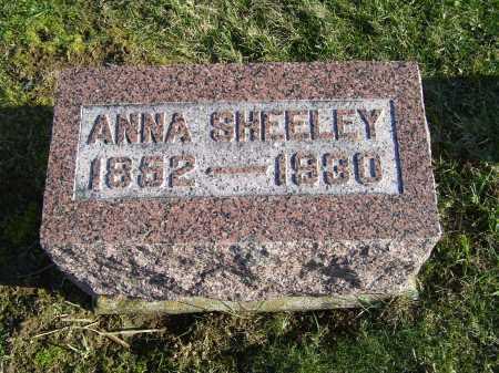 SHEELEY, ANNA - Adams County, Ohio | ANNA SHEELEY - Ohio Gravestone Photos