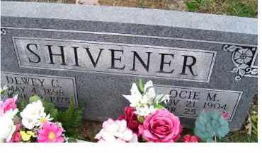 SHIVENER, DEWEY C. - Adams County, Ohio | DEWEY C. SHIVENER - Ohio Gravestone Photos