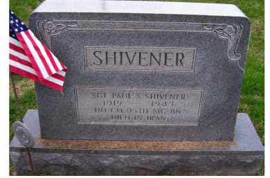 SHIVENER, PAUL S. - Adams County, Ohio   PAUL S. SHIVENER - Ohio Gravestone Photos