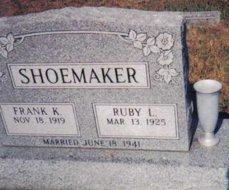 SHOEMAKER, RUBY L. - Adams County, Ohio | RUBY L. SHOEMAKER - Ohio Gravestone Photos