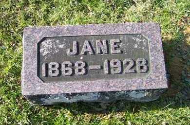 SHOEMAKER, JANE - Adams County, Ohio | JANE SHOEMAKER - Ohio Gravestone Photos