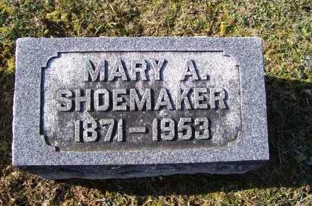 SHOEMAKER, MARY A. - Adams County, Ohio | MARY A. SHOEMAKER - Ohio Gravestone Photos