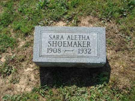 SHOEMAKER, SARA ALETHA - Adams County, Ohio | SARA ALETHA SHOEMAKER - Ohio Gravestone Photos