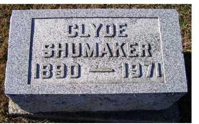 SHUMAKER, CLYDE - Adams County, Ohio | CLYDE SHUMAKER - Ohio Gravestone Photos