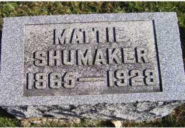 SHUMAKER, MATTIE - Adams County, Ohio   MATTIE SHUMAKER - Ohio Gravestone Photos