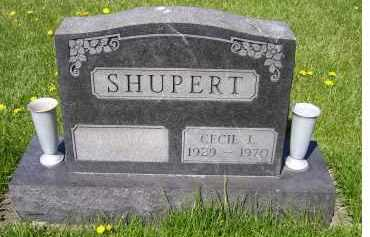 SHUPERT, CECIL L. - Adams County, Ohio | CECIL L. SHUPERT - Ohio Gravestone Photos