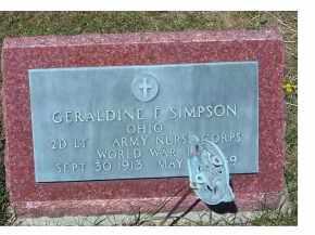 SIMPSON, GERALDINE F. - Adams County, Ohio | GERALDINE F. SIMPSON - Ohio Gravestone Photos