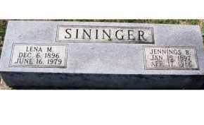 SININGER, LENA M. - Adams County, Ohio   LENA M. SININGER - Ohio Gravestone Photos