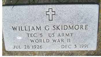 SKIDMORE, WILLIAM G. - Adams County, Ohio | WILLIAM G. SKIDMORE - Ohio Gravestone Photos