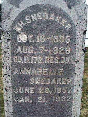 URTON SNEKAKER, ANNABELLE - Adams County, Ohio | ANNABELLE URTON SNEKAKER - Ohio Gravestone Photos