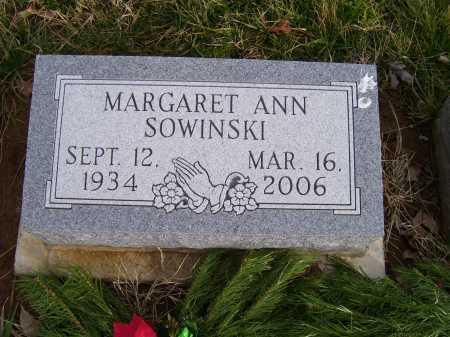 SOWINSKI, MARGARET ANN - Adams County, Ohio | MARGARET ANN SOWINSKI - Ohio Gravestone Photos