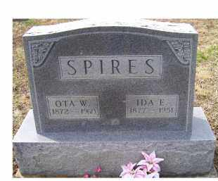 SPIRES, OTA W. - Adams County, Ohio   OTA W. SPIRES - Ohio Gravestone Photos