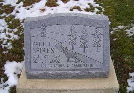 SPIRES, PAUL E. - Adams County, Ohio | PAUL E. SPIRES - Ohio Gravestone Photos