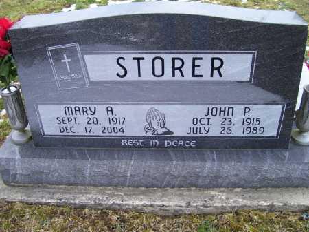 STORER, MARY A. - Adams County, Ohio | MARY A. STORER - Ohio Gravestone Photos