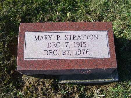 STRATTON, MARY P. - Adams County, Ohio | MARY P. STRATTON - Ohio Gravestone Photos