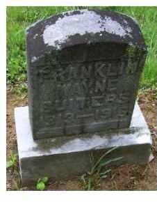 SUITERS, FRANKLIN WAYNE - Adams County, Ohio   FRANKLIN WAYNE SUITERS - Ohio Gravestone Photos